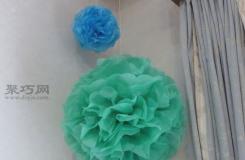 手工紙花制作教程 用皺紋紙制作精美紙花