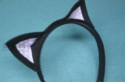 自己動手來制作一個可愛的貓耳朵發箍