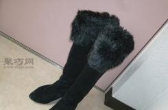 如何制作可拆卸冬靴假毛皮 手工改制小妙招