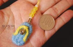 毛線編織吊墜方法圖解 毛線編制手工掛飾教程