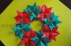 圣誕折紙八角星制作教程 如何通過折紙制作圣誕小裝飾