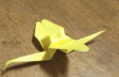 用紙怎么折3D蜻蜓 昆蟲折紙教程圖解