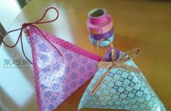長方形塑料包裝袋改造成立體三角形零食包裝袋方法圖解