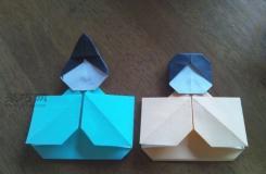 可愛的立體漢服折紙娃娃教程圖解