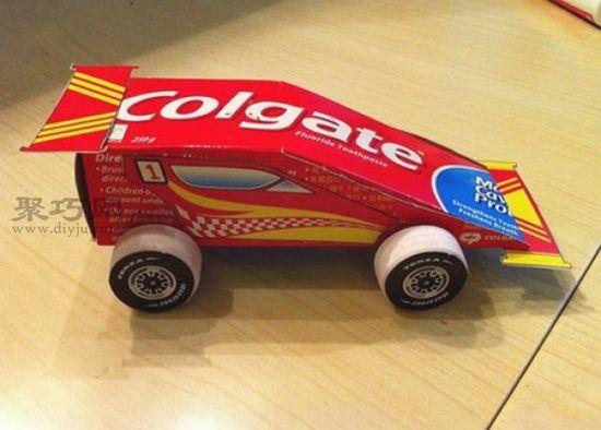 牙膏盒DIY小汽車