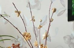 如何用開心果的果殼制作文藝范插花
