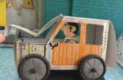 废旧纸箱手工制作吉普汽车教程 教你怎么用废纸盒制作玩具