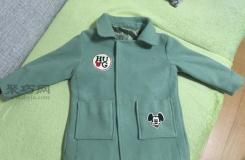 不合身的舊外套風衣改制女童大衣教程圖解