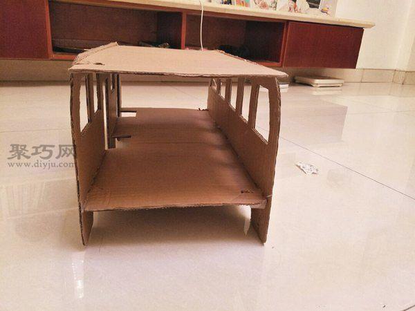 廢紙盒做公交車 第5步
