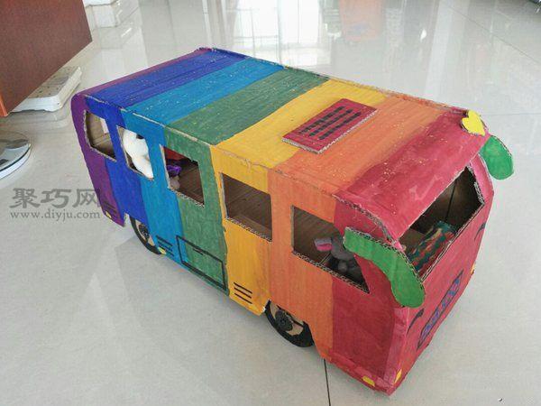 廢紙盒做公交車