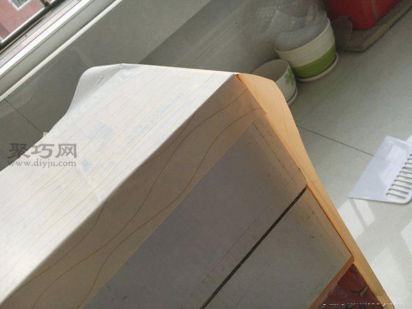 舊紙箱改鞋架 第6步