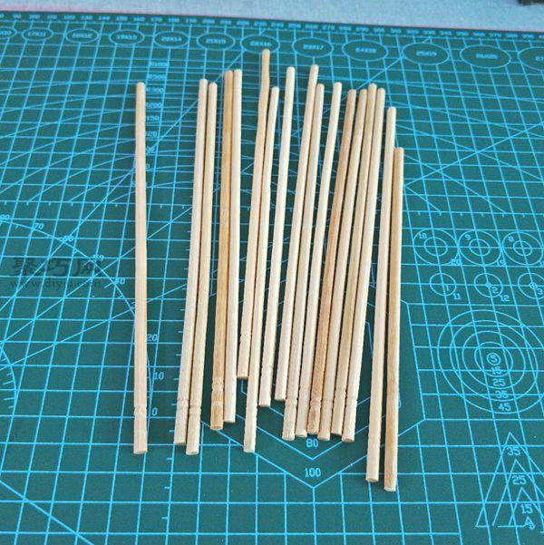一次性筷子和開心果殼diy置物小碟 第1步
