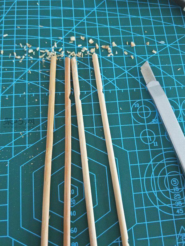 一次性筷子和開心果殼diy置物小碟 第4步