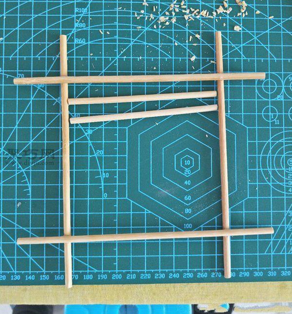一次性筷子和開心果殼diy置物小碟 第6步