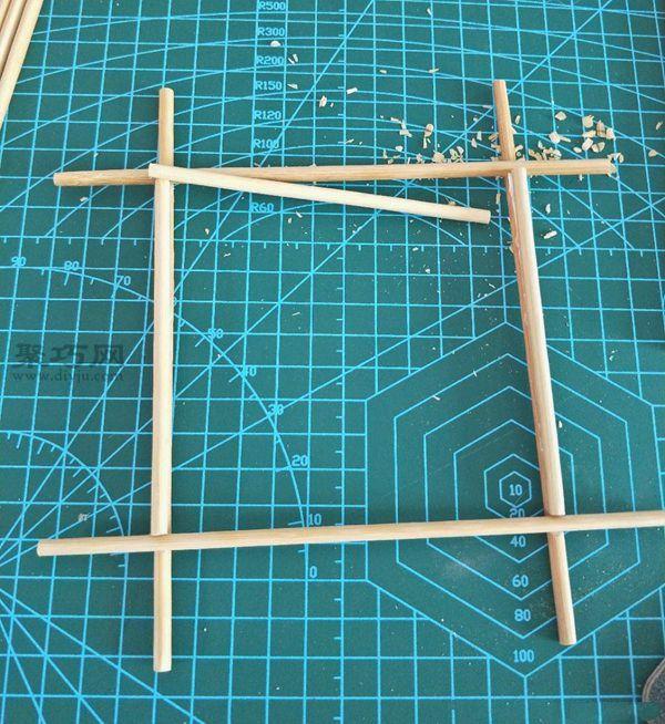 一次性筷子和開心果殼diy置物小碟 第8步