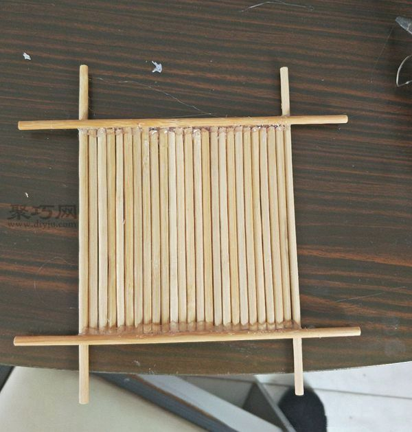 一次性筷子和開心果殼diy置物小碟 第9步