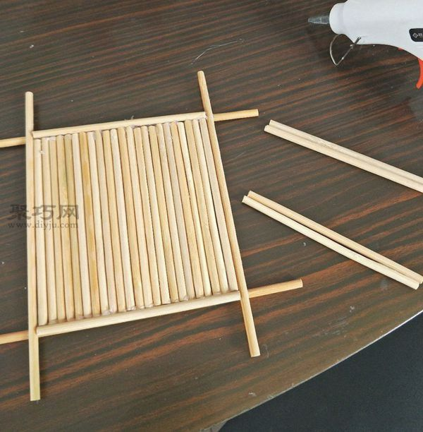 一次性筷子和開心果殼diy置物小碟 第10步