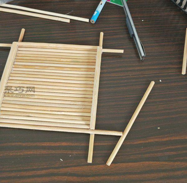 一次性筷子和開心果殼diy置物小碟 第12步