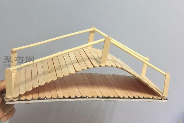 冰棍棒做的拱橋