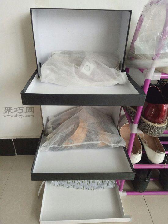 廢舊鞋盒做鞋架 第8步