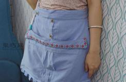生活小妙招舊襯衫衣服改造實用小圍裙