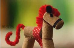 幼兒園手工制作紅酒軟木塞怎么DIY可愛的小木馬
