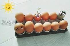 卷紙筒和廢紙盒蓋手工制作雞蛋托教程詳解