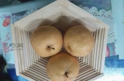 雪糕棍DIY六邊形收納筐教程 冰棒棍手工制作零食水果盤方法