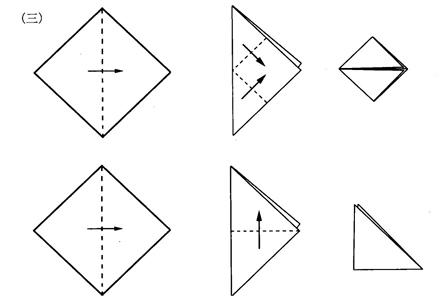 折紙的基本方法 對角折2