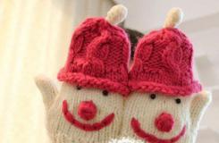 雪人手套的編織方法