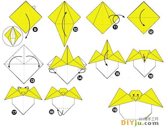 非常有趣的小鸡手工折纸图解