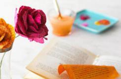 舊雜志廢物利用 DIY制做紙玫瑰花