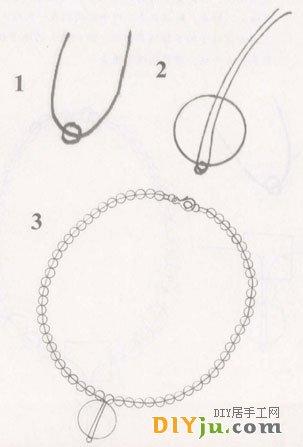 单线吊坠法1
