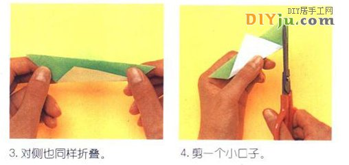 折纸蚂蚱图解教程 动物折纸教程系列
