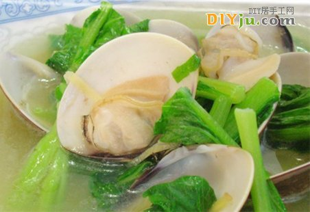 蛤蜊燒芥菜的做法