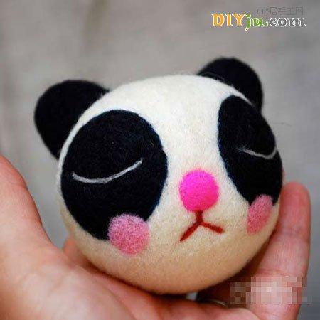 手工布艺diy可爱的小熊猫