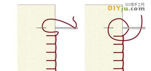 手縫基本針法:回針、倒針