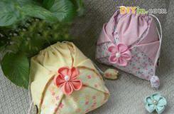 布藝DIY超文藝的櫻花手機袋