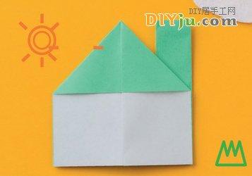 看折纸小房子图解教程学怎么折纸房子