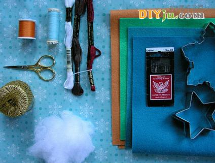 布藝DIY圣誕樹小飾品工具