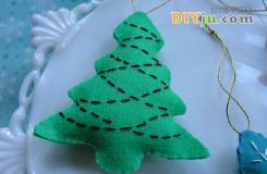 布藝DIY圣誕樹小掛飾教程