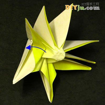 太阳花的折法,纸折太阳花图解教程