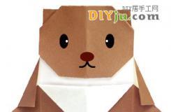 小熊維尼兒童折紙圖解教程