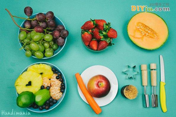 圣誕樹水果拼盤使用的水果材料