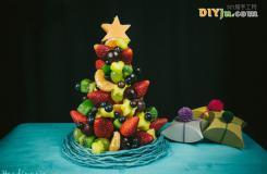 教你做創意水果拼盤 圣誕樹創意水果拼盤的做法