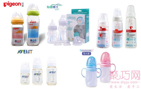各大品牌的嬰兒奶瓶