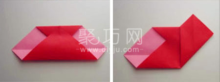 用正方形纸折爱心图解教程 超简单折法