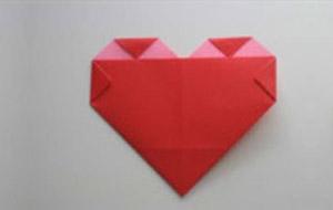 用正方形紙折愛心