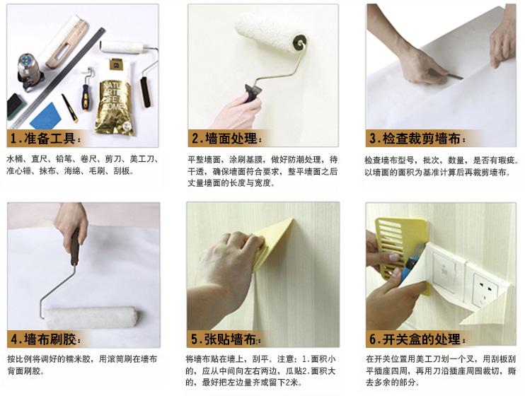 墻紙施工流程圖