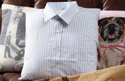 旧衬衫改造:旧衣改造衬衫靠垫
